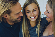 Portrait of smiling father, mother and daughter - CHAF000855