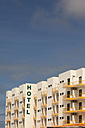 Spain, Sevilla, view to facade with yellow balconies of a hotel - HCF000140