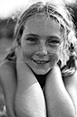 Portrait of blond girl with freckles - MGO000340