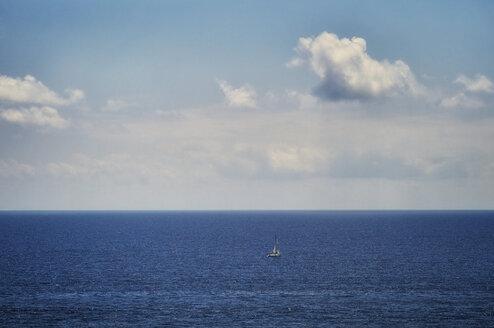 Italy, Liguria, sailboat on the sea near Portofino - DIKF000139