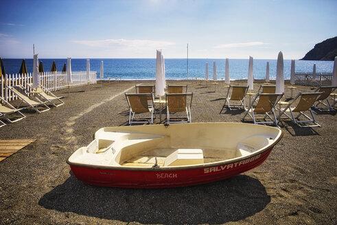 Italy, Liguria, beach of Trigoso near Sestri Levante - DIK000149