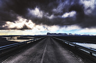 Iceland, Highway 1 and dark clouds - SMAF000360
