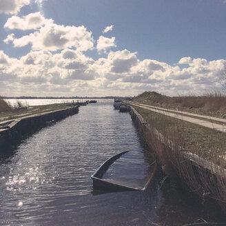 Germany, Ludwigsburg, sunken boat - GCF000071