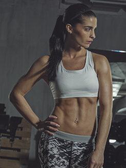 Portrait of a female athlete in gym - MADF000480