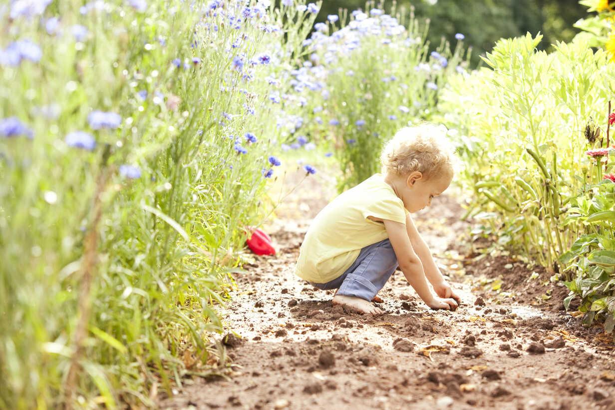 Little girl playing in the garden - MFRF000325 - Michelle Fraikin/Westend61