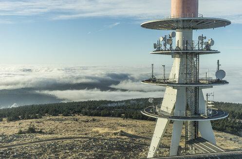 Germany, Saxony-Anhalt, Harz National Park, atmospheric inversion at Brocken - PVCF000521