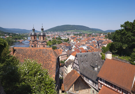 Germany, view to Miltenberg with spires of St. Jacobus Church - SIEF006690