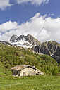 Italy, Piemont, Maira Valley, barn in the mountains - LAF001452