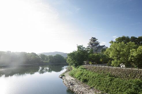 Japan, Okayama, view to Okayama Castle - FL001191
