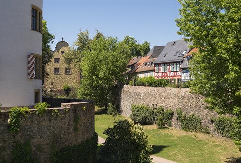 Germany, Hesse, Frankfurt-Hoechst, Old town, Hoechst Castle, moat - SIE006671