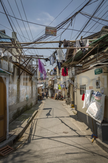 China, Shanghai, street scene in an old quarter of shanghai - NKF000339