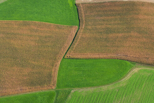 Germany, Bavaria, Fields, aerial view - PEDF000079