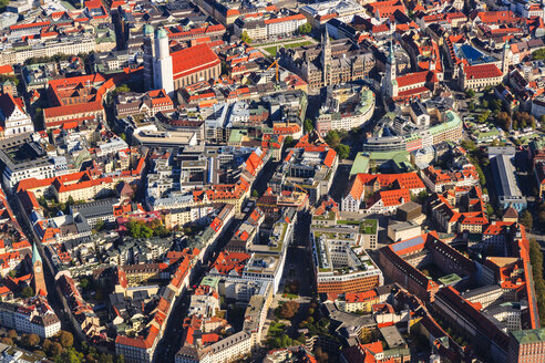 Germany, Bavaria, Munich, Aerial view of old town - PEDF000089