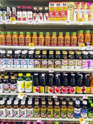 Japan, vitamine drinks in supermarket - FL001218