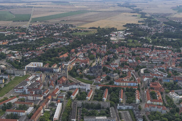 Germany, aerial view of Halberstadt in the evening - PVCF000562