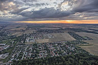 Germany, aerial view of Halberstadt at evening twilight - PVCF000566
