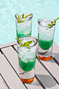 Fresh cocktail with mint liquer - JUNF000402
