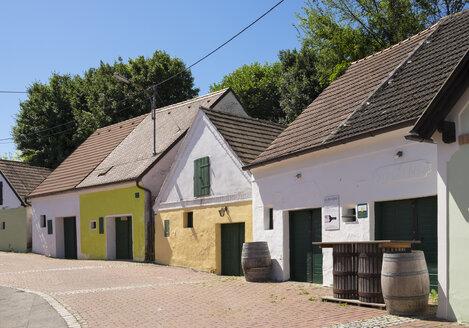 Austria, Lower Austria, Weinviertel, Falkenstein, Kellergasse, wine press houses - SIE006702