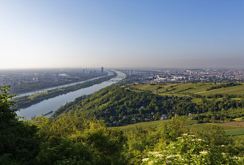 Austria, View to Vienna and Danube river - SIEF006716