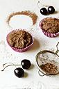 Vegan chocolate muffins with cherries, sugar-free and full-value - EVGF002101