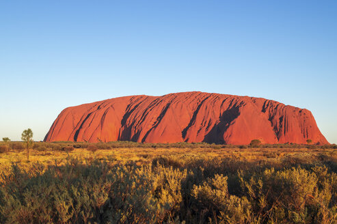 Australia, Northern Territory, Yulara, Uluru, Ayers Rock in the evening light - PUF000418