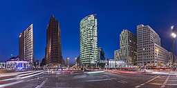Germany, Berlin, Berlin-Mitte, Potsdamer Platz in the evening - PVCF000602