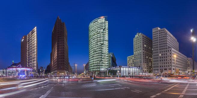 Germany, Berlin, Berlin-Mitte, Potsdamer Platz in the evening - PVCF000602