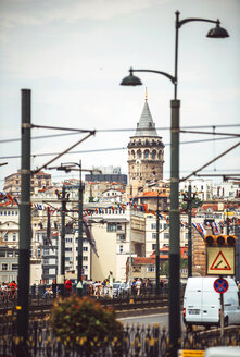 Turkey, Istanbul, cityscape with Galata Tower - EHF000124