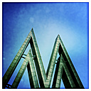 Germany, Leipzig, letter M at old trade fair premises - GW004447