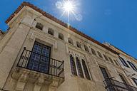 Spain, Menorca, Mahon, facade of historical urban villa - MABF000323