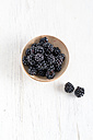 Fresh blackberries, bowls - MYF001111