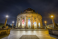Germany, Berlin, The Bode Museum at night - NK000356