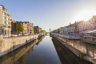 Belgium, Brussels, residential houses at Charleroi Canal - WDF003206