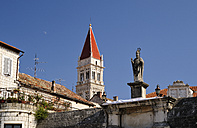 Croatia, Trogir, Cathedral of St Laurentius, spire - BTF000337