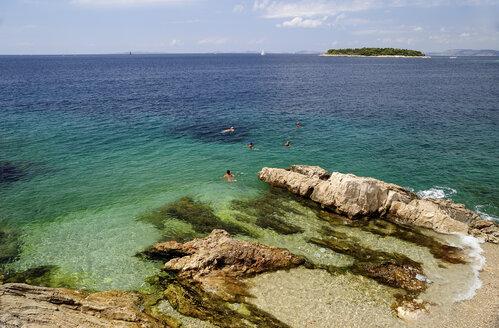 Croatia, Primosten, People bathing in Adriatic Sea - BTF000351