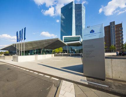 Germany, Frankfurt, European Central Bank, main entrance - AM004169