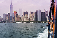 USA, New York City, View of Manhattan skyline and East River - ONF000886