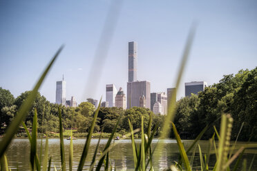 USA, New York City, People rowing on Central Park lake - ONF000909