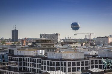 Germany, Berlin, city view with air balloon from French Cathedral - NK000385