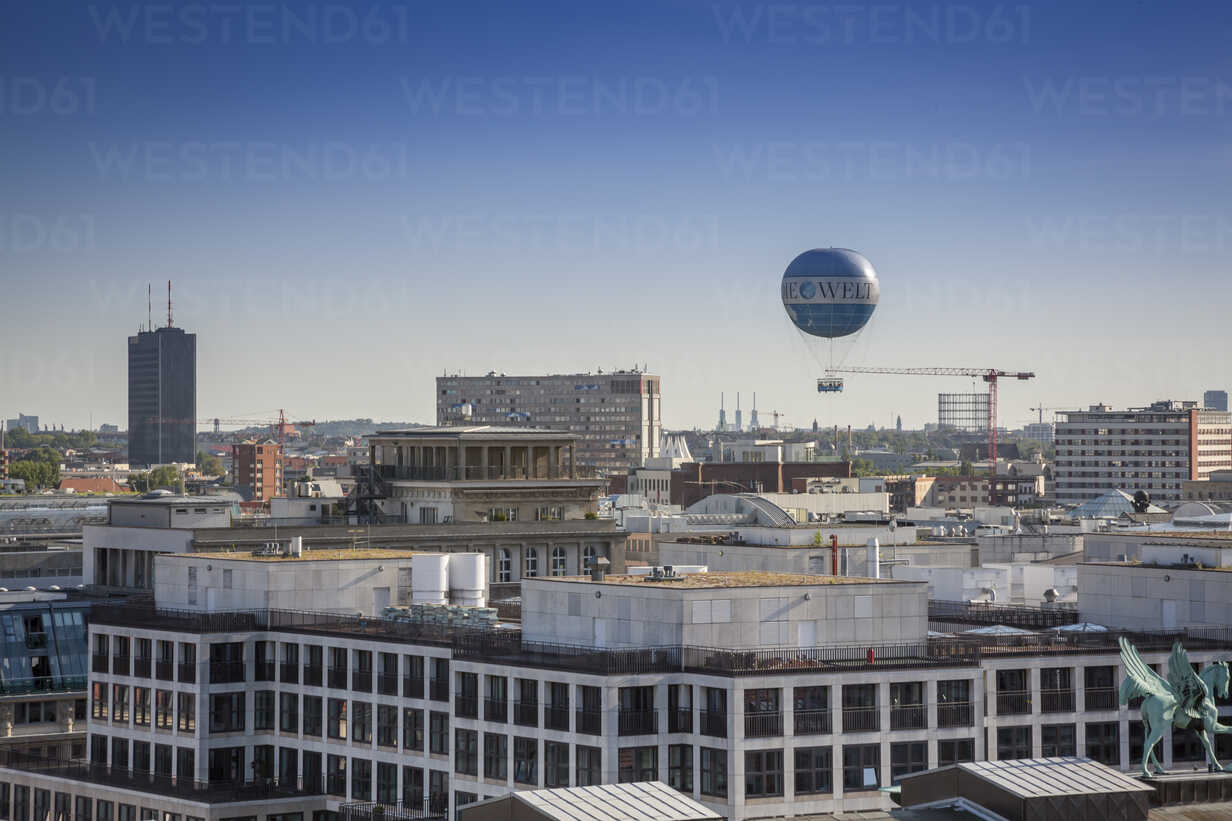 Germany, Berlin, city view with air balloon from French Cathedral - NK000385 - Stefan Kunert/Westend61