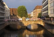 Germany, Nuremberg, museum bridge over Pegnitz River - SIEF006767