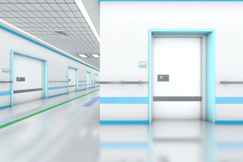 3D rendered illustration, modern hospital - SPCF000064