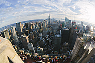 USA, New York City, view to Downtown Manhattan from above - GIO000109