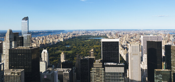 USA, New York City, view to Central Park from above - GIOF000100