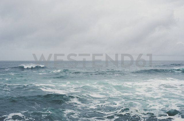Spain, Galicia, Ferrol, sea and sky on a cloudy day - RAEF000448