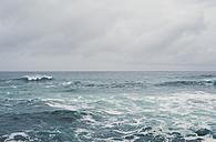 Spain, Galicia, Ferrol, sea and sky on a cloudy day - RAEF000448