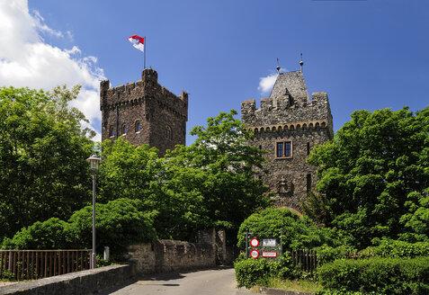 Germany, Rhineland-Palatinate, Bingen am Rhein, Klopp Castle, Upper Middle Rhine Valley - BT000399
