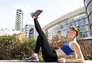 Young woman doing workout in the city - PASF000027