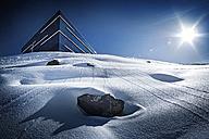 Austria, Tyrol, Ischgl, restaurant Pardorama in winter landscape - ABF000661