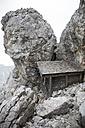 Austria, Wilder Kaiser, little hut under the peak of Ellmauer Halt - TKF000411